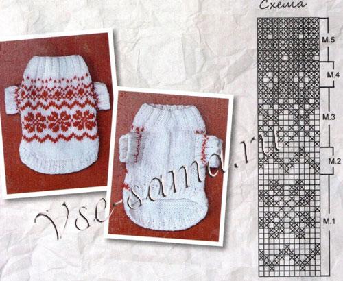 Схема вязания свитерка для